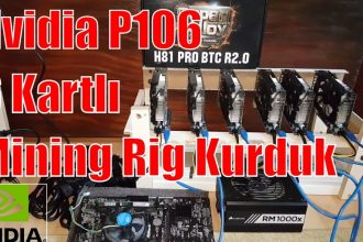 Nvidia P106 Mining Rig – 6 Kartlı P106 Rig Kurduk